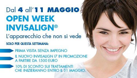 Open Week Invisalign – Dal 4 all' 11 maggio 2013