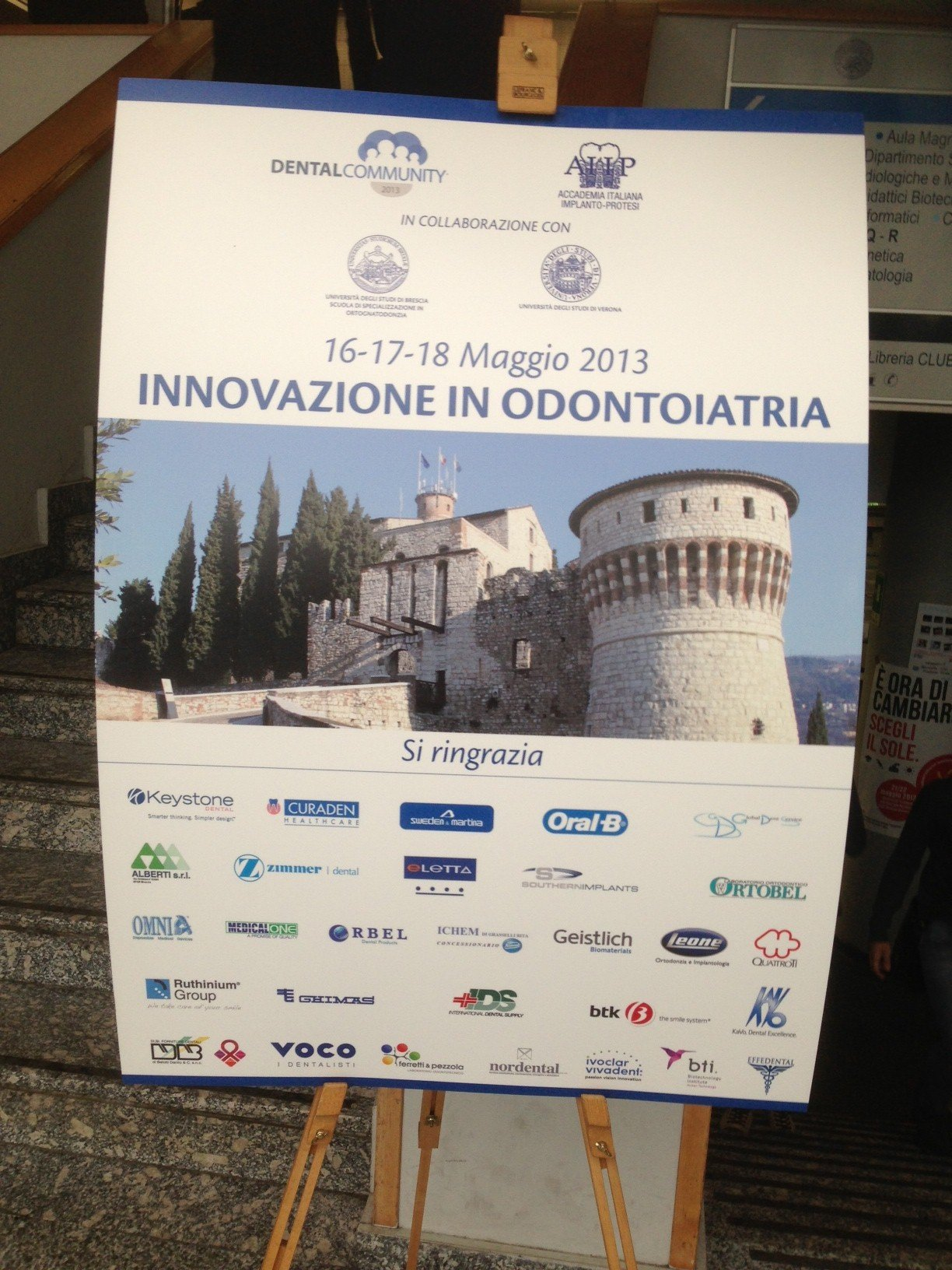 """Medical Center Padova ospite al Congresso """"INNOVAZIONE IN ODONTOIATRIA""""  a Brescia il 16-17-18 Maggio."""